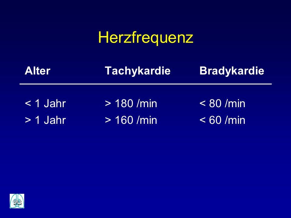 Herzfrequenz Alter Tachykardie Bradykardie