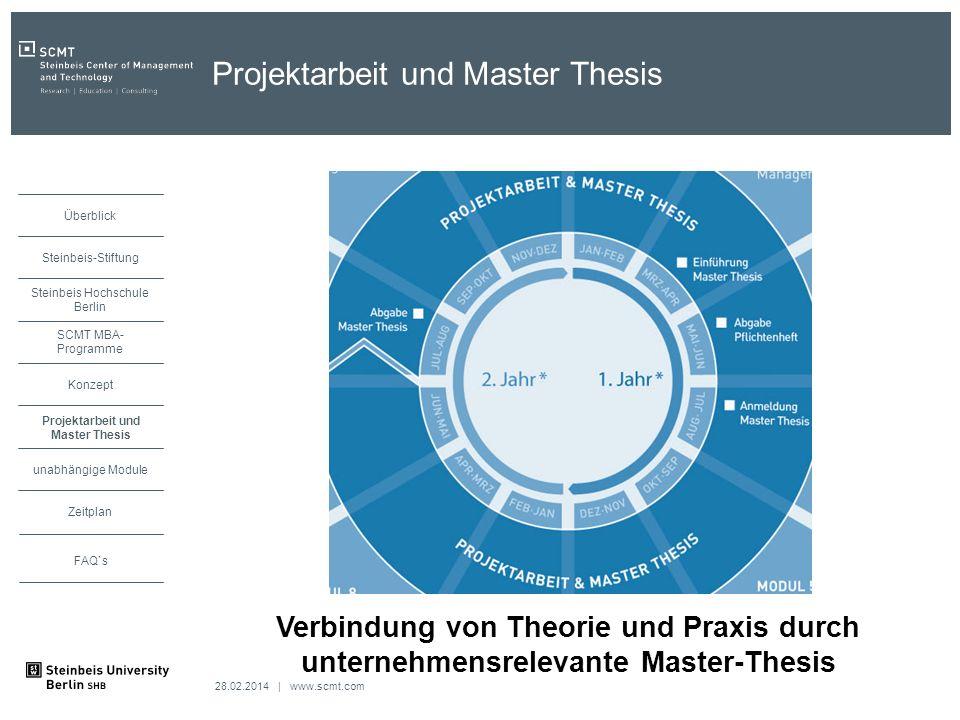 Projektarbeit und Master Thesis