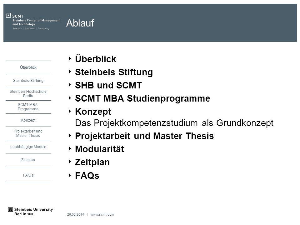 Ablauf Überblick Steinbeis Stiftung SHB und SCMT