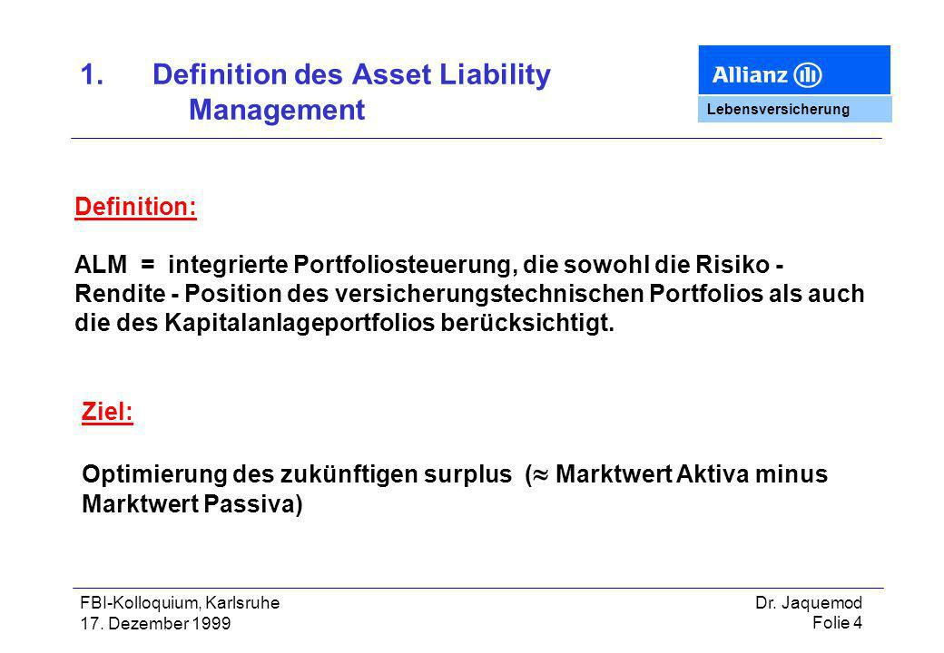 1. Definition des Asset Liability Management