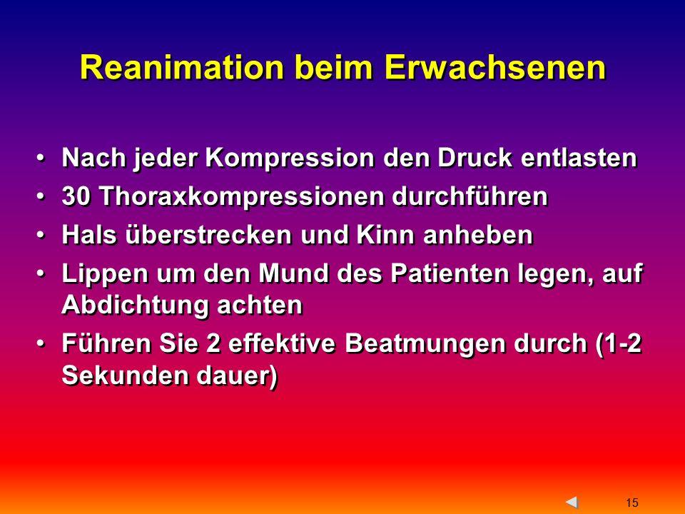Reanimation beim Erwachsenen