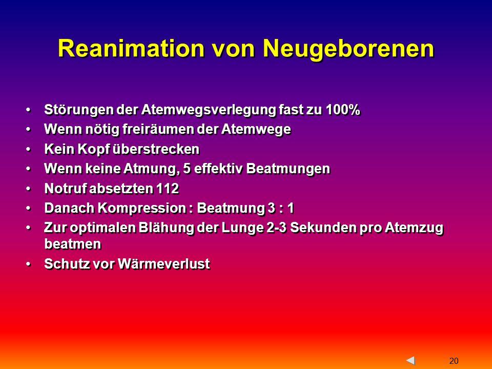 Reanimation von Neugeborenen