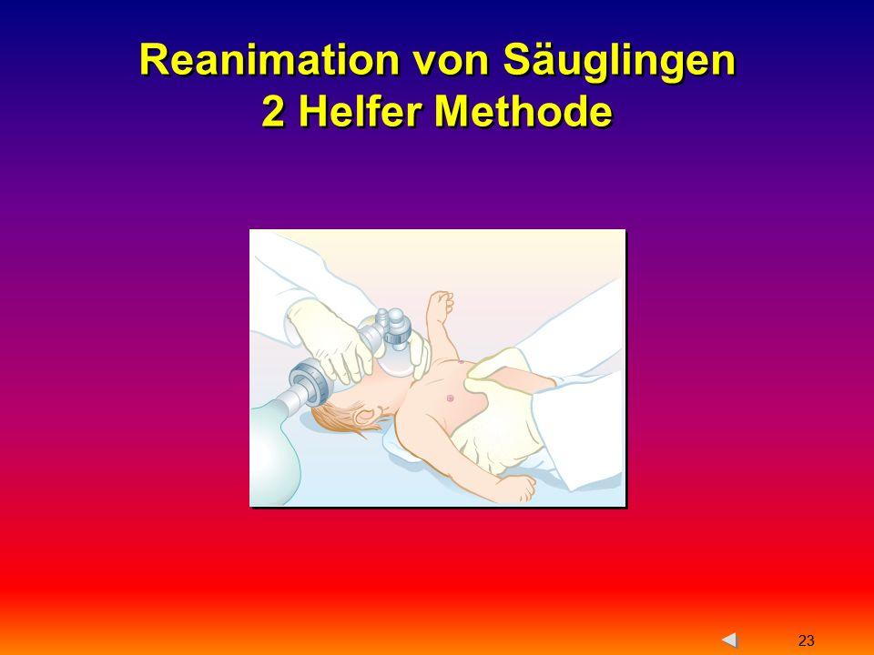 Reanimation von Säuglingen 2 Helfer Methode
