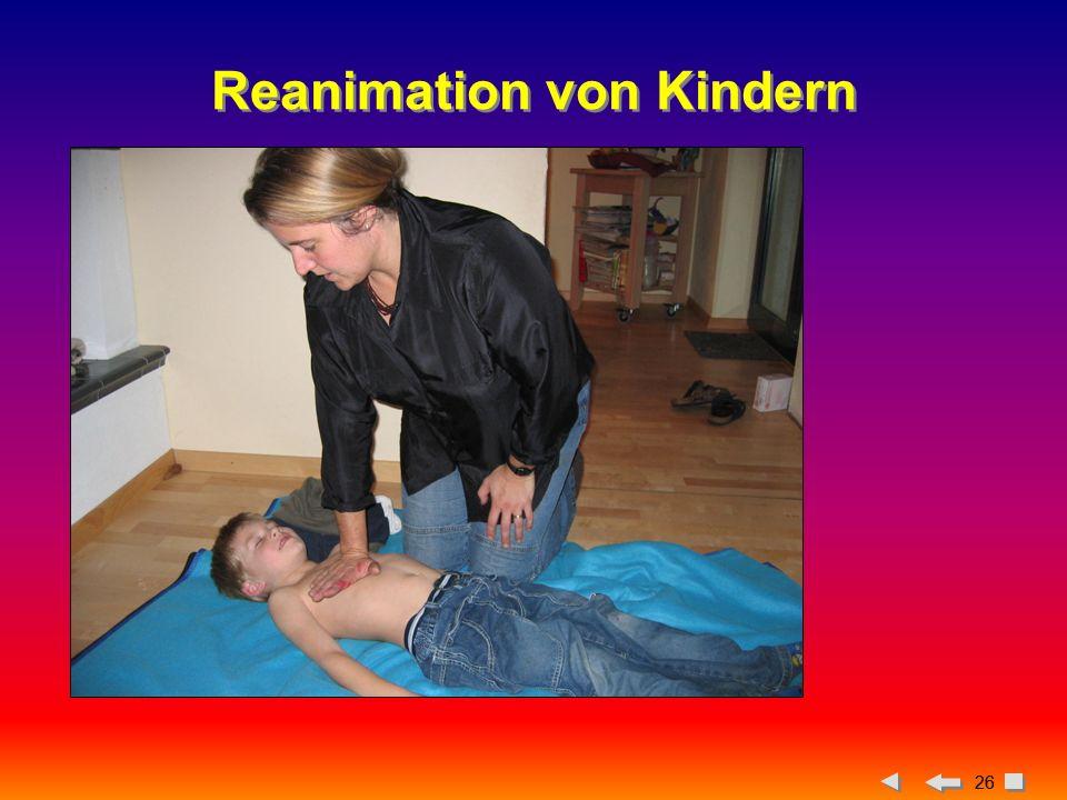 Reanimation von Kindern