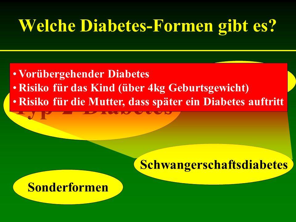 Welche Diabetes-Formen gibt es