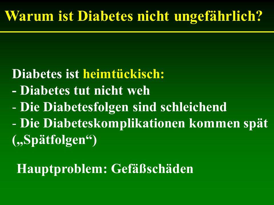 Warum ist Diabetes nicht ungefährlich