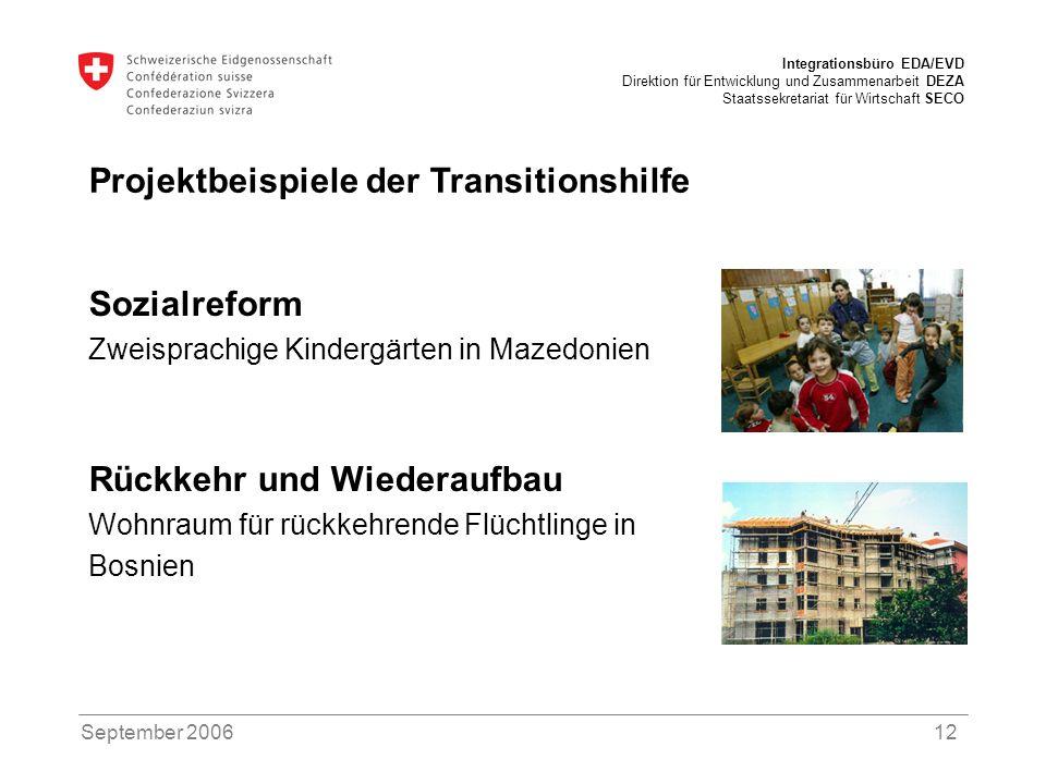 Projektbeispiele der Transitionshilfe