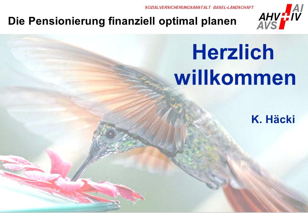 Herzlich willkommen Die Pensionierung finanziell optimal planen