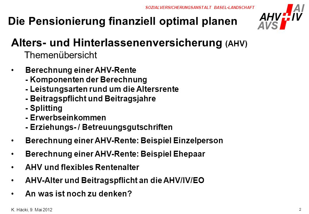 Die Pensionierung finanziell optimal planen