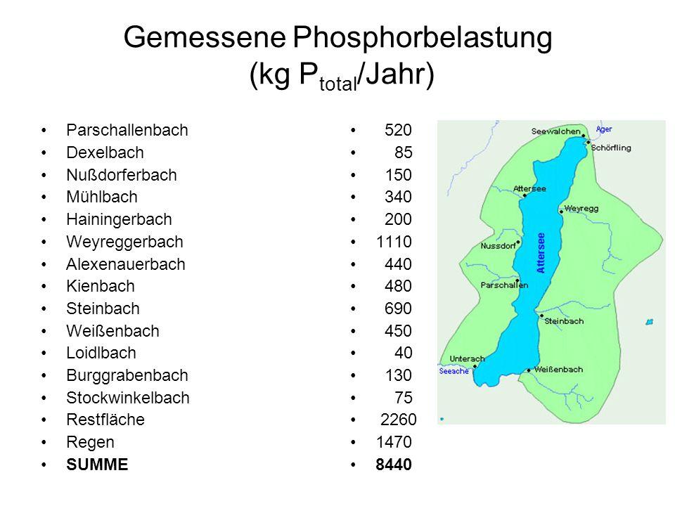 Gemessene Phosphorbelastung (kg Ptotal/Jahr)