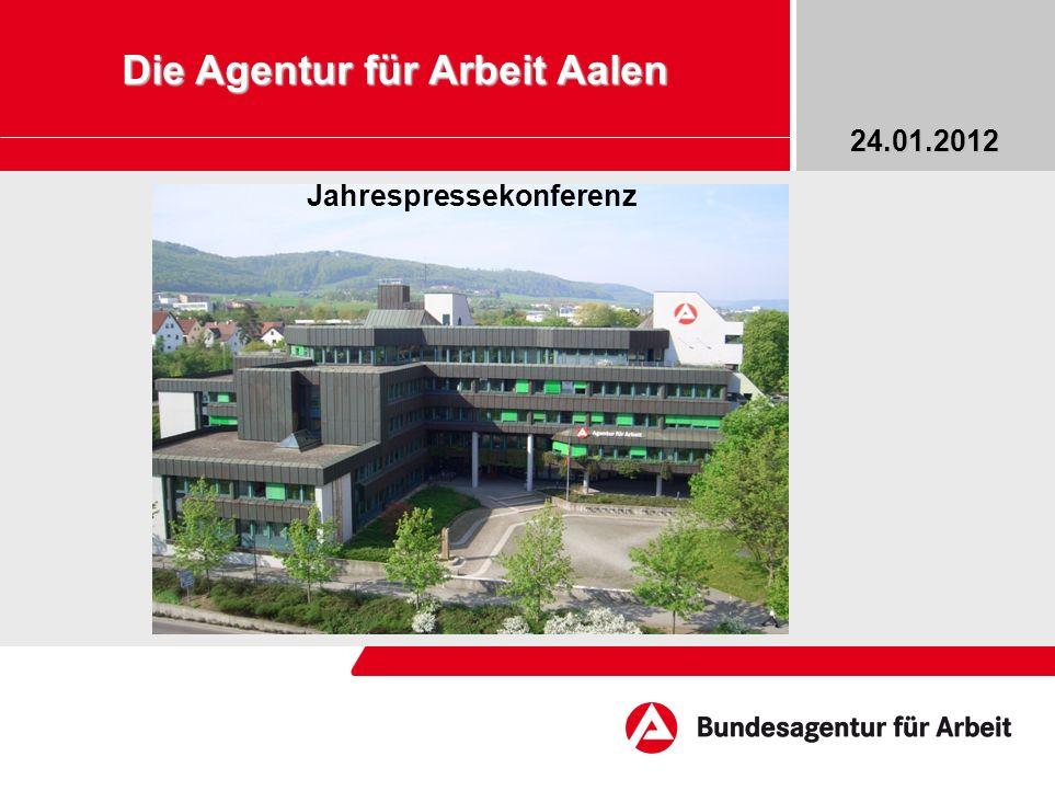 Die Agentur für Arbeit Aalen Jahrespressekonferenz