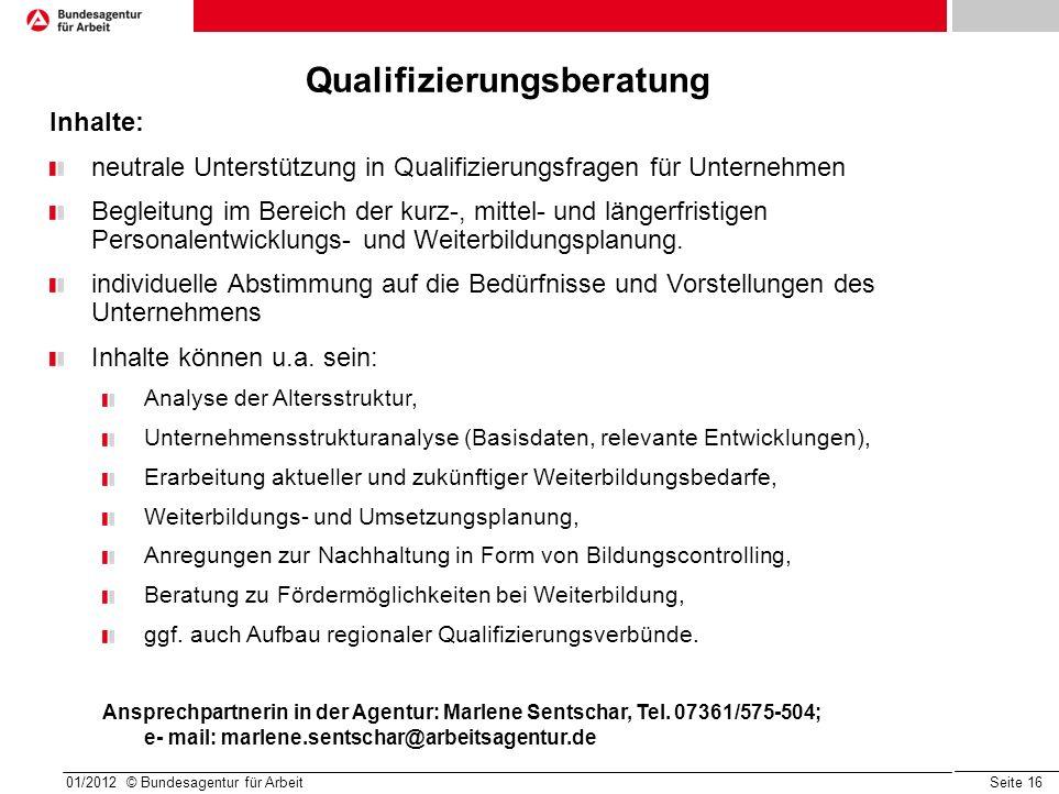 Qualifizierungsberatung