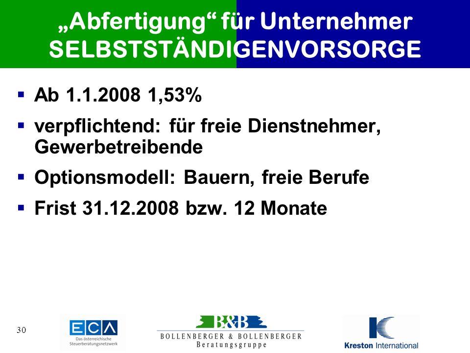 """""""Abfertigung für Unternehmer SELBSTSTÄNDIGENVORSORGE"""