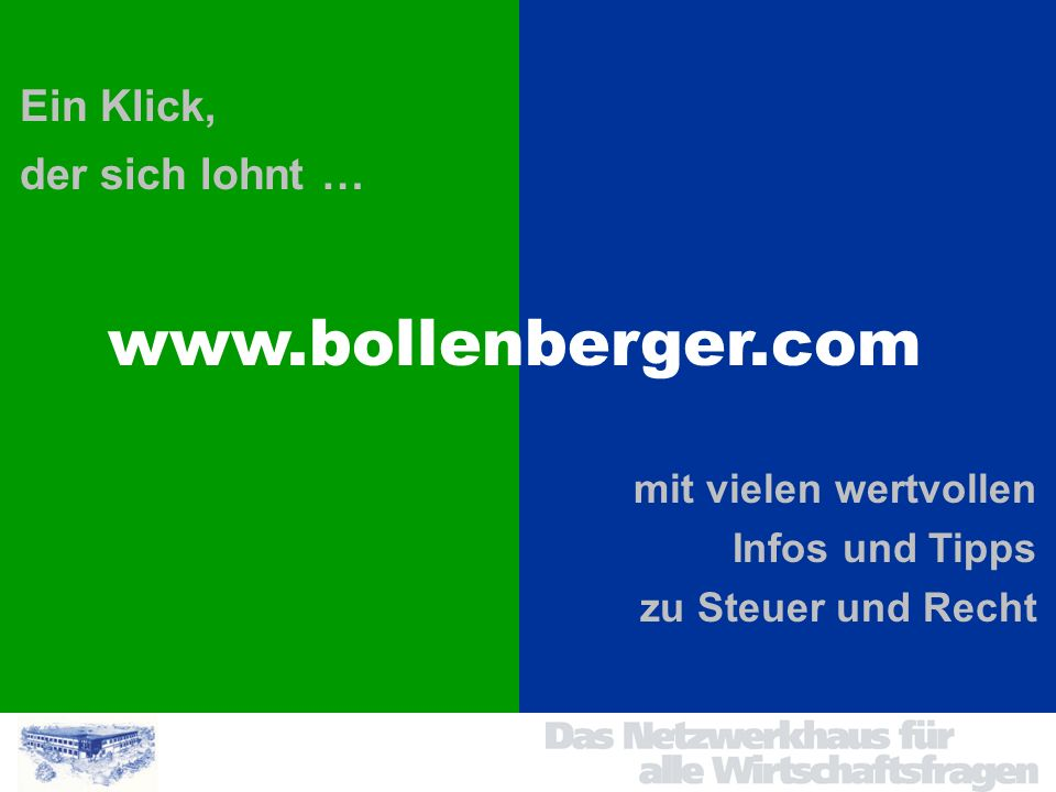 www.bollenberger.com Ein Klick, der sich lohnt … mit vielen wertvollen