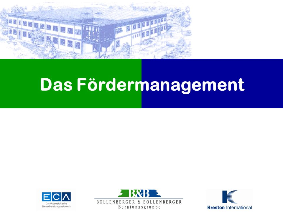 Das Fördermanagement