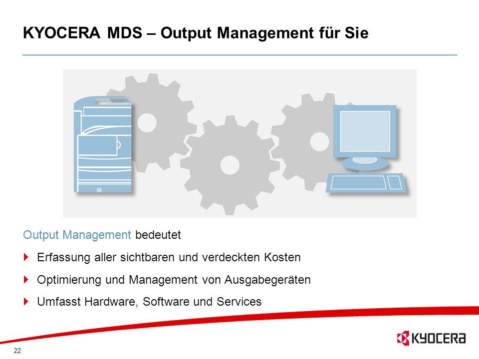 KYOCERA MDS – Output Management für Sie