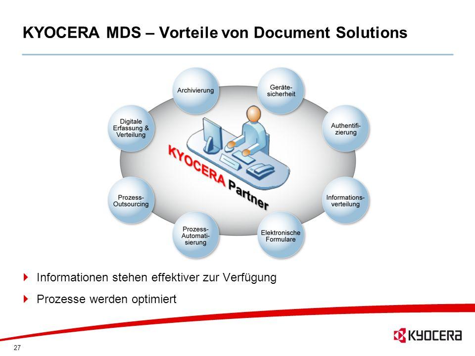 KYOCERA MDS – Vorteile von Document Solutions