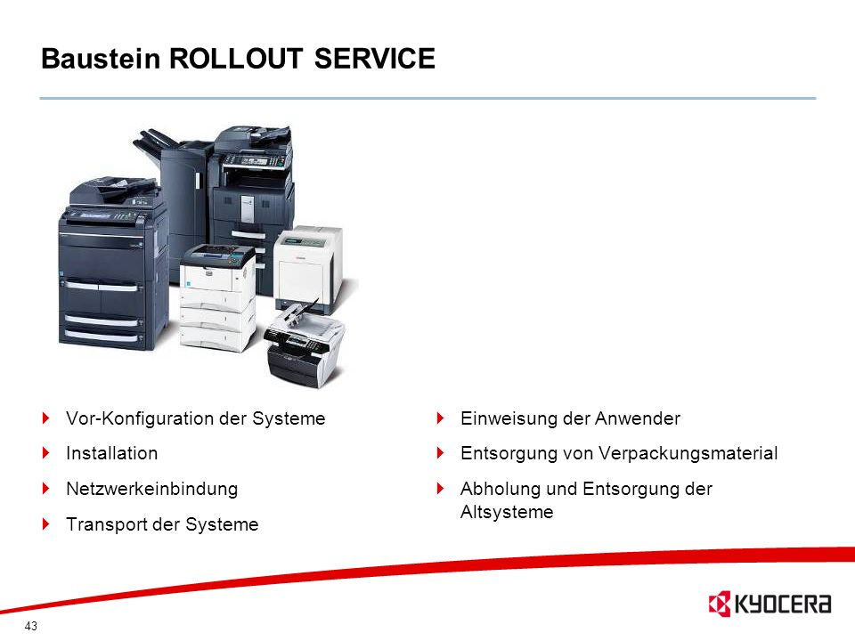Baustein ROLLOUT SERVICE