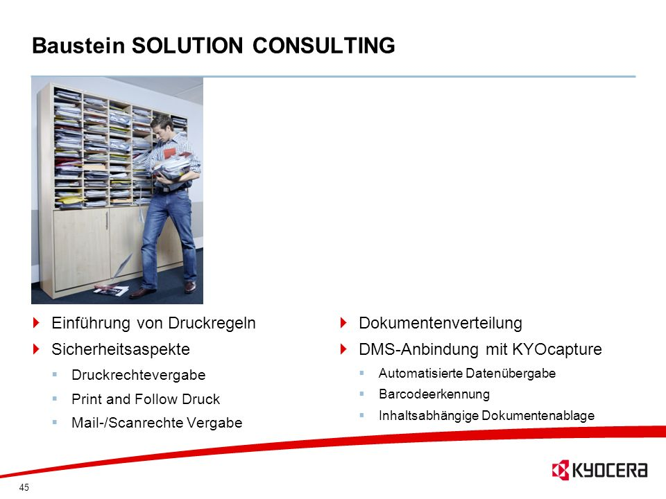 Baustein SOLUTION CONSULTING