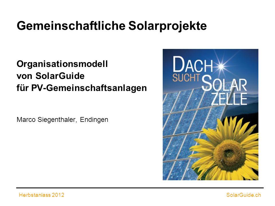 Gemeinschaftliche Solarprojekte