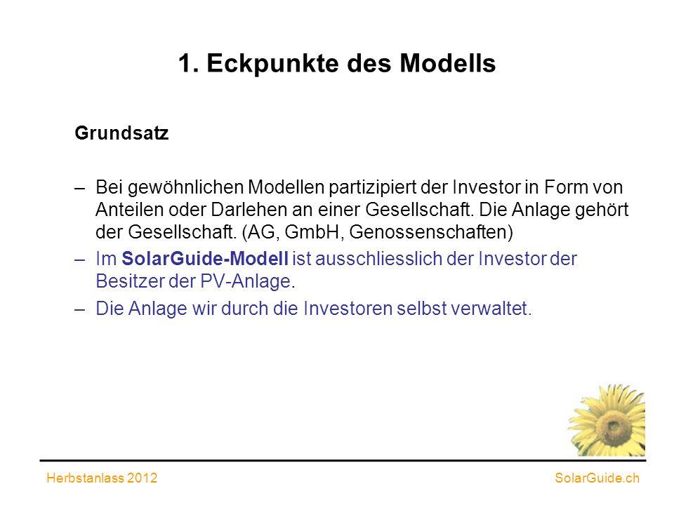 1. Eckpunkte des Modells Grundsatz