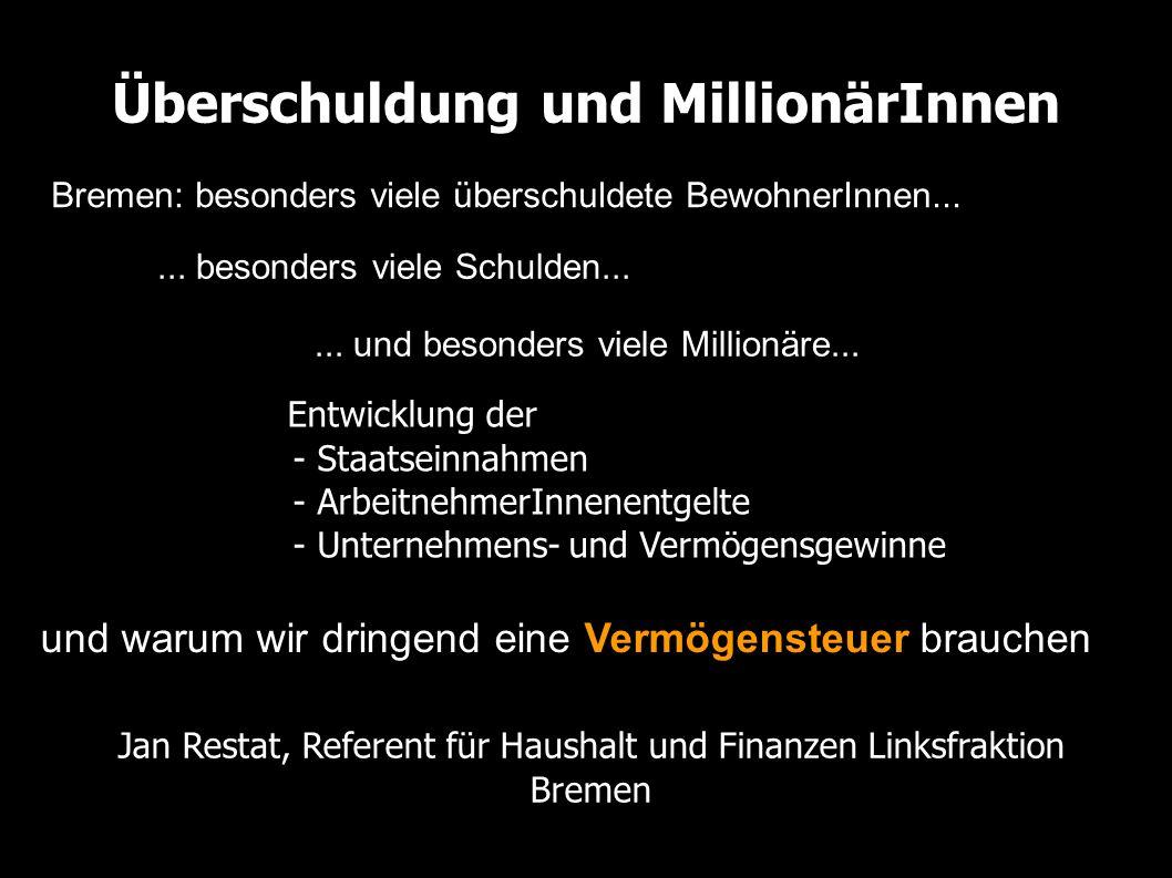 Überschuldung und MillionärInnen