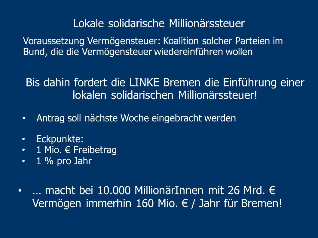 Lokale solidarische Millionärssteuer