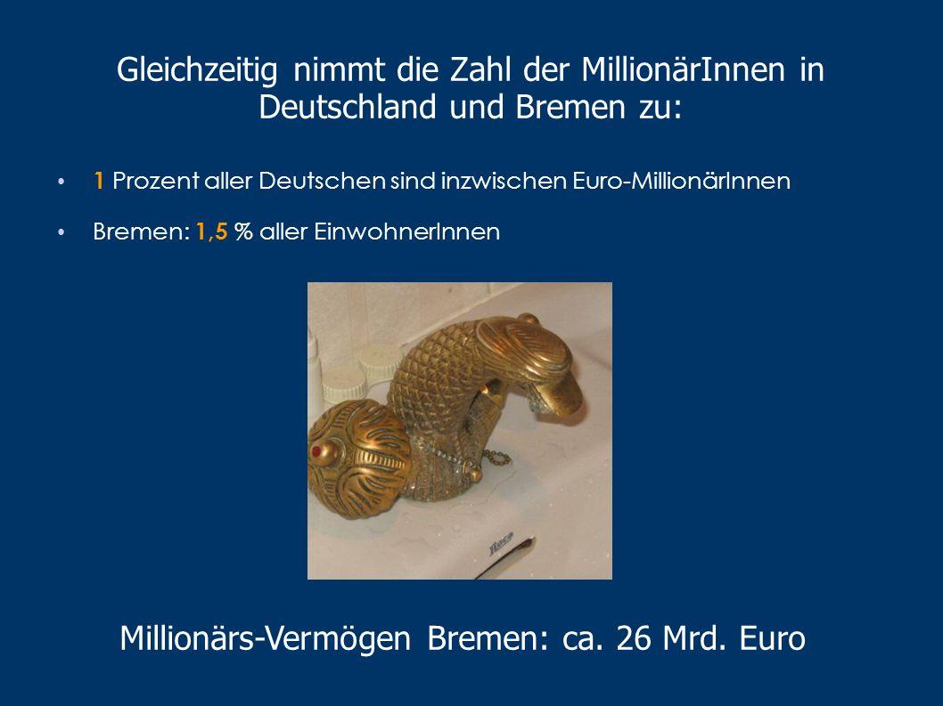 Millionärs-Vermögen Bremen: ca. 26 Mrd. Euro
