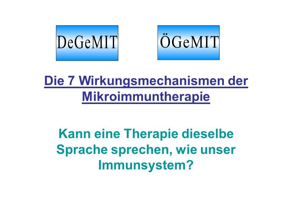 Die 7 Wirkungsmechanismen der Mikroimmuntherapie
