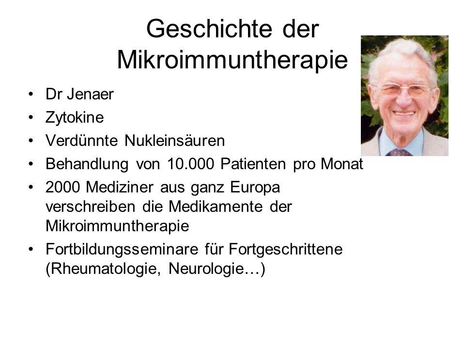 Geschichte der Mikroimmuntherapie