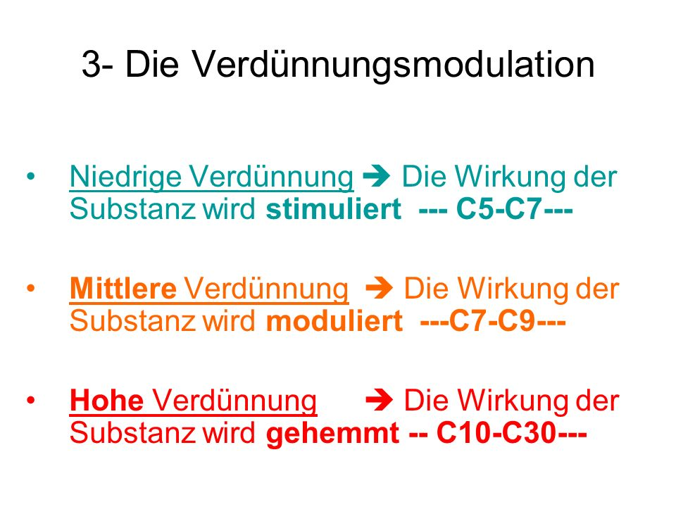 3- Die Verdünnungsmodulation