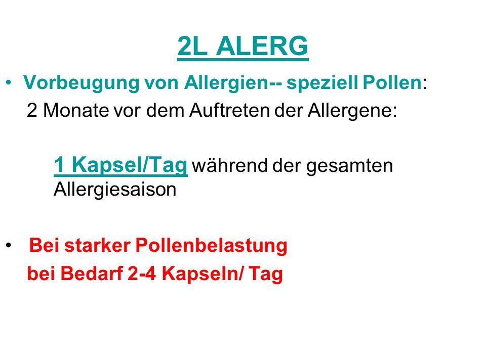 2L ALERG Vorbeugung von Allergien-- speziell Pollen:
