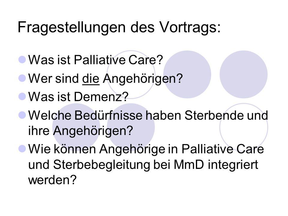 Fragestellungen des Vortrags: