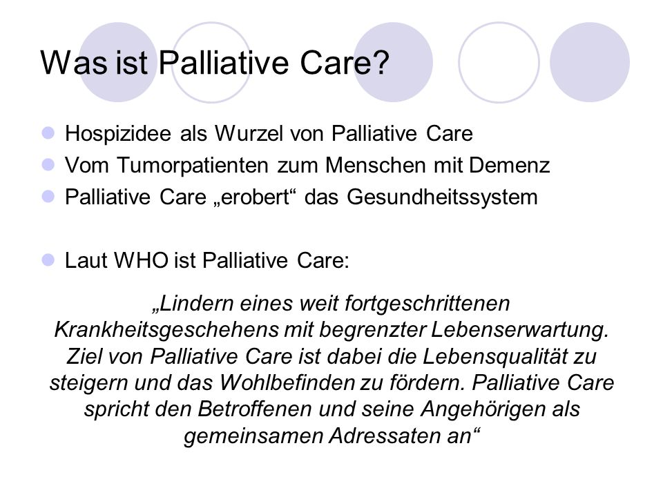 Was ist Palliative Care