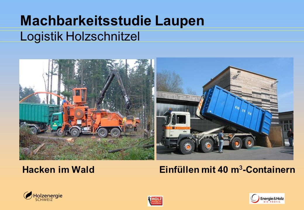 Machbarkeitsstudie Laupen Logistik Holzschnitzel