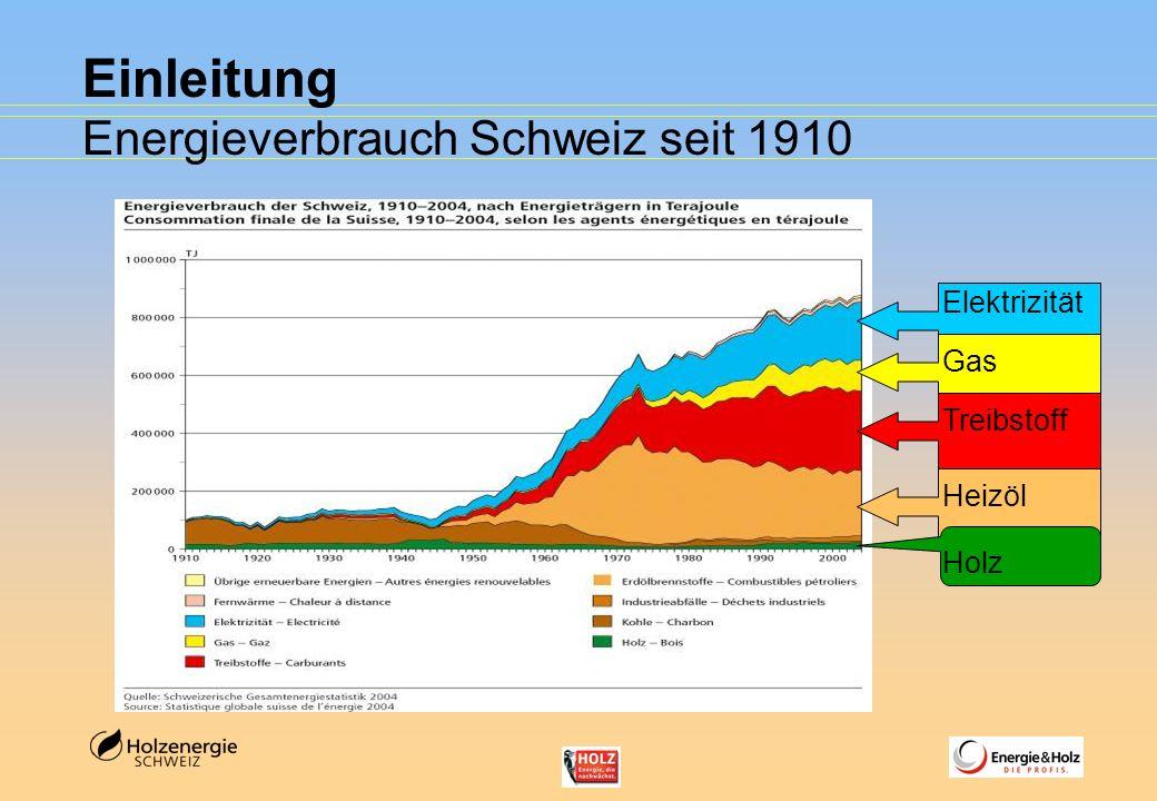 Einleitung Energieverbrauch Schweiz seit 1910