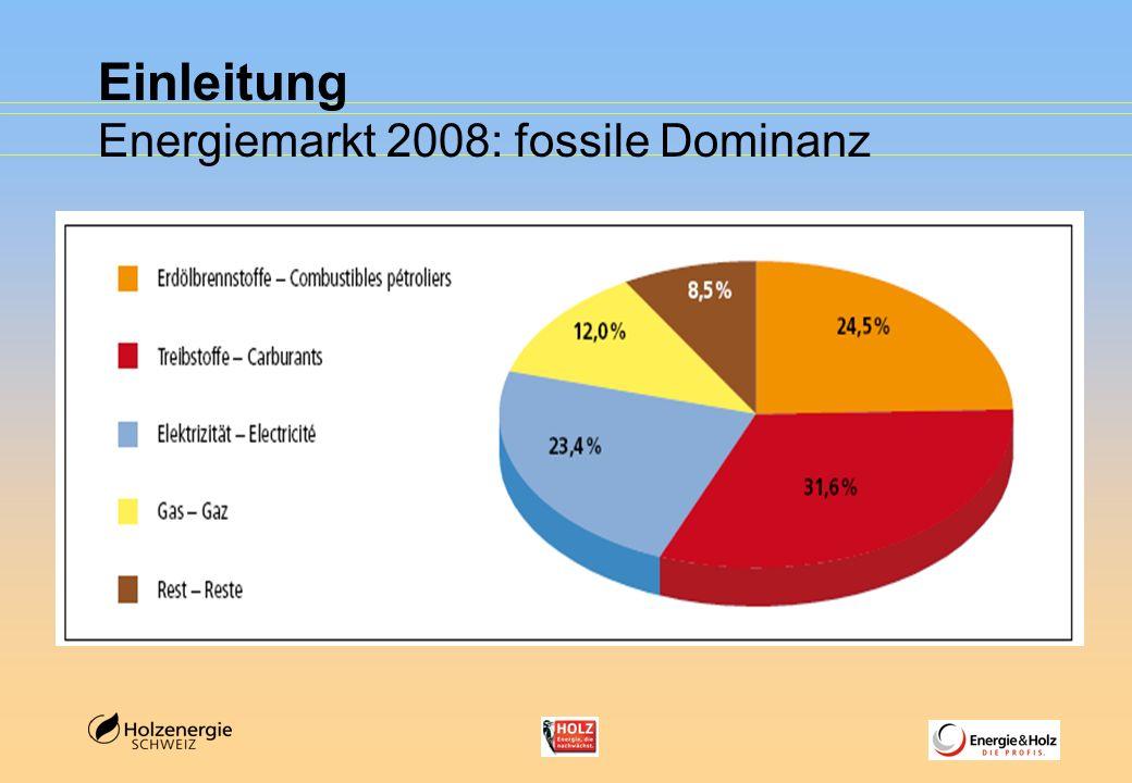 Einleitung Energiemarkt 2008: fossile Dominanz