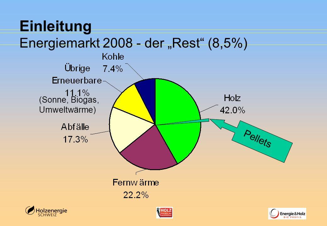 """Einleitung Energiemarkt 2008 - der """"Rest (8,5%)"""