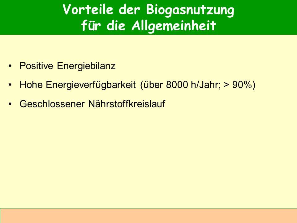 Vorteile der Biogasnutzung