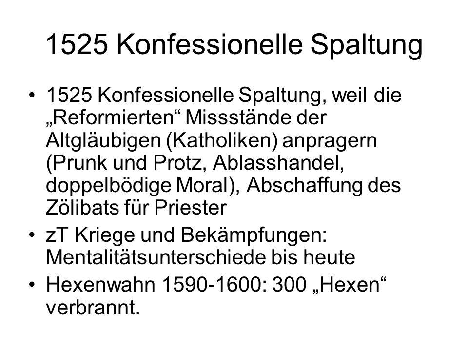 1525 Konfessionelle Spaltung
