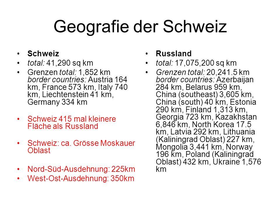 Geografie der Schweiz Schweiz total: 41,290 sq km