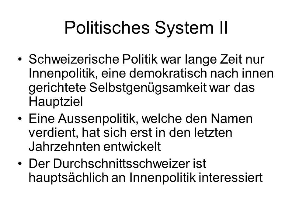 Politisches System II