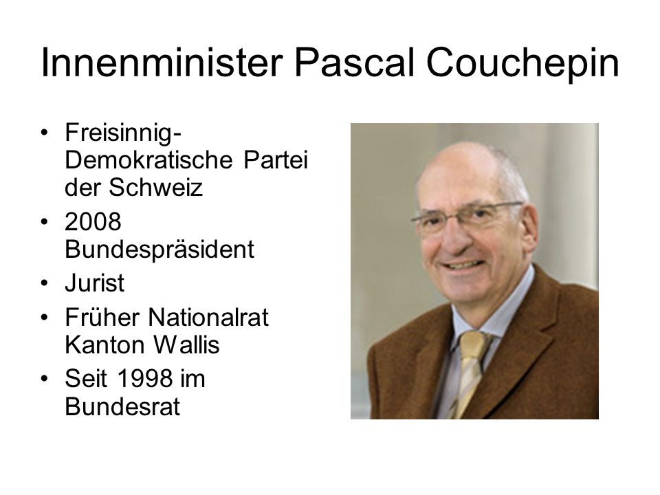 Innenminister Pascal Couchepin
