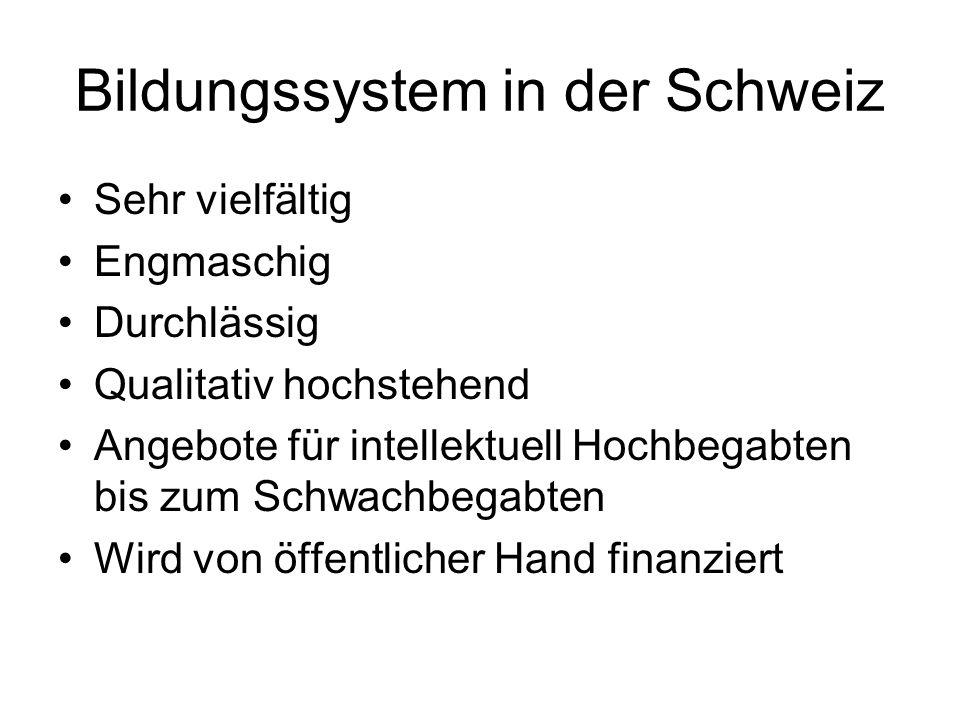 Bildungssystem in der Schweiz