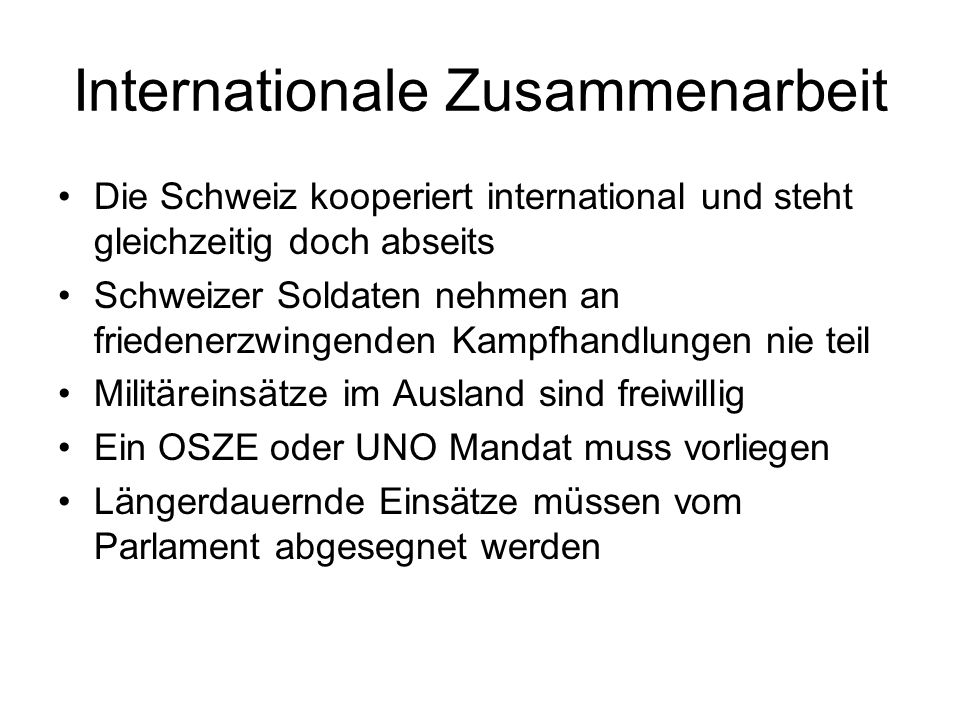Internationale Zusammenarbeit