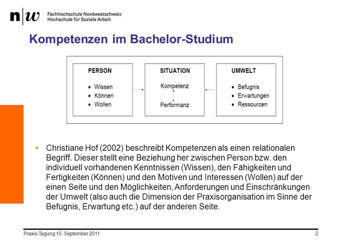 Kompetenzen im Bachelor-Studium