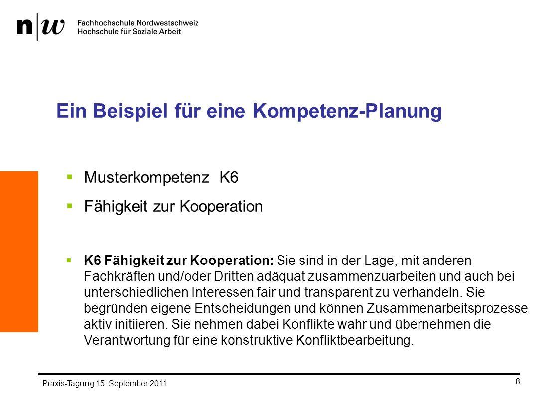 Ein Beispiel für eine Kompetenz-Planung