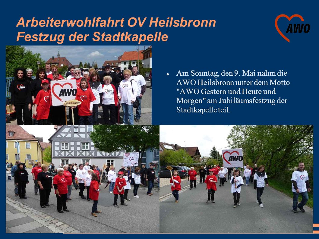 Arbeiterwohlfahrt OV Heilsbronn Festzug der Stadtkapelle