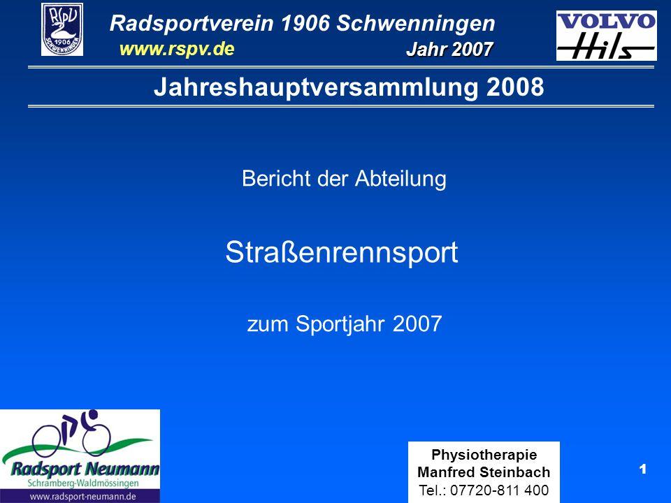 Jahreshauptversammlung 2008