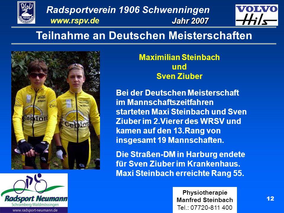 Teilnahme an Deutschen Meisterschaften